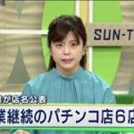 兵庫県が店名を公表 営業継続のパチンコ店6店舗