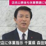 パチンコ店2店に「休業指示」 千葉・森田知事発表(20/05/03)