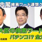 【菅新内閣メンバーの検索ワード連想クイズ!!】パチンコ!?河野大臣は!?