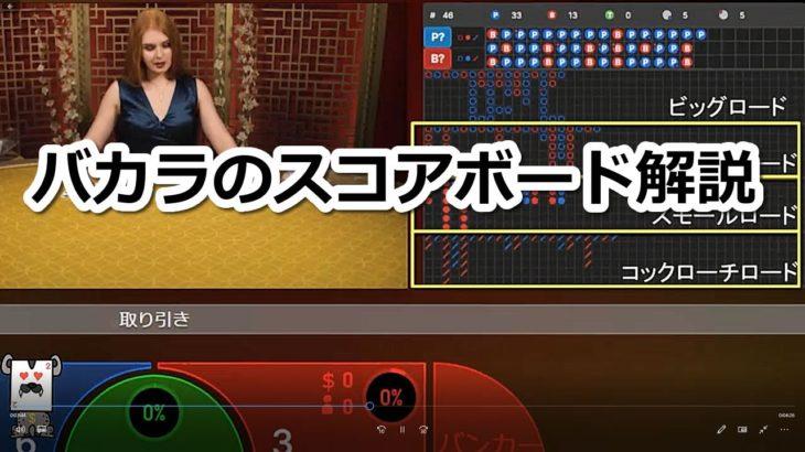 バカラのスコアボードについて動画で解説するよ【カジノゲーム攻略ナビ】